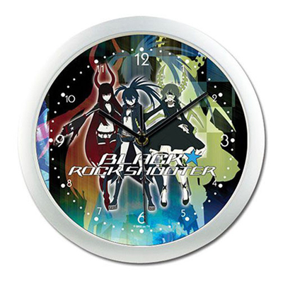 Black Rock Shooter Group Wall Clock