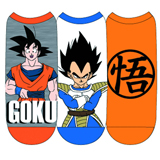 Dragon Ball Z Goku and Vegeta Low Cut Socks 3 Pack