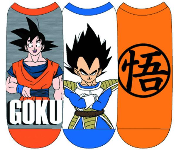 Dragon Ball Z Goku and Vegeta Low Cut Socks 3 Pack