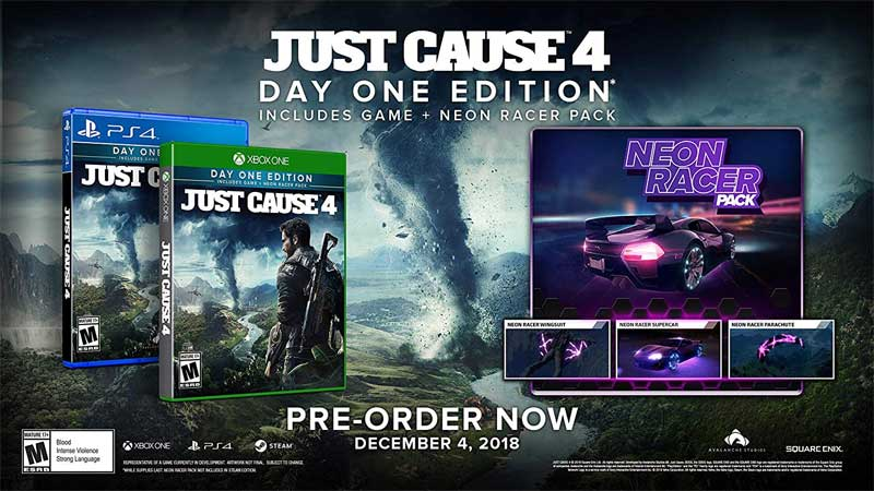 Just Cause 4 Day One Edition bonus material