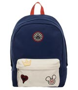 Kingdom Hearts Navy Blue & White Backpack with Icons