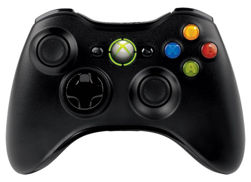 Xbox 360 Wireless Controller Black by Microsoft (No box)