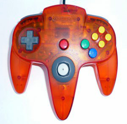 N64 Controller Nintendo Fire Orange