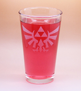 Arts & Crafts: Legend of Zelda Hyrulian Logo Custom-made 16oz Glass