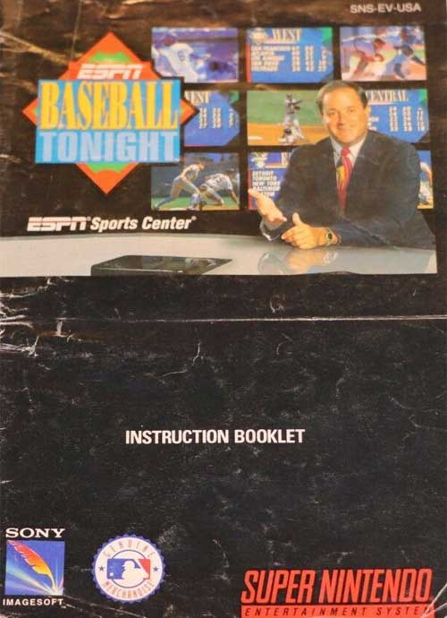 ESPN Baseball Tonight (Instruction Manual)