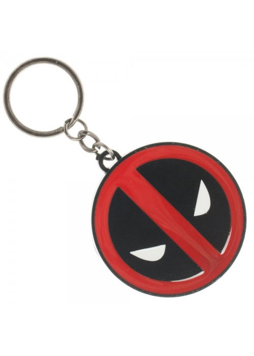 Marvel Deadpool Metal Black Rim Keychain