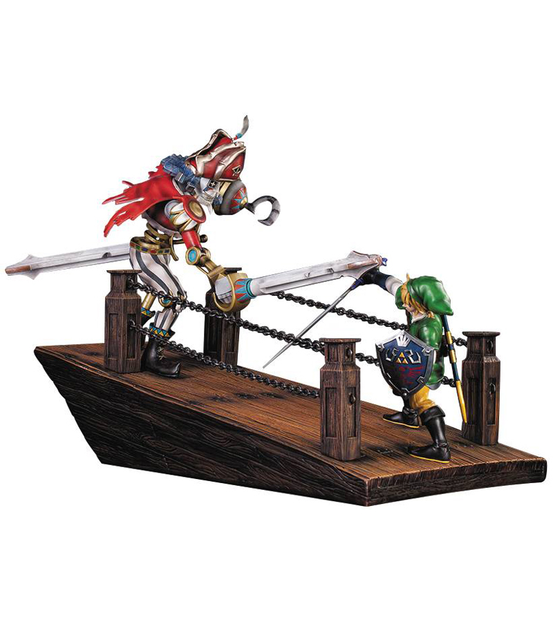 Legend of Zelda Skyward Sword Link Vs Scervo Diorama Statue