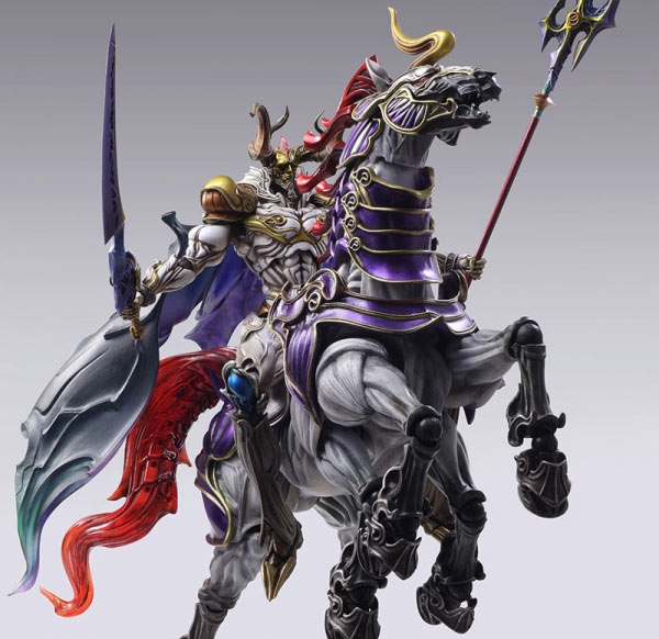 Final Fantasy: Creatures Bring Arts Odin Action Figure with Slepnir