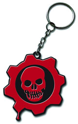 Gears of War Metal Skull Keychain