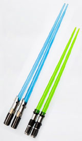 Star Wars Lightsaber Chopsticks (Yoda & Luke Skywalker)