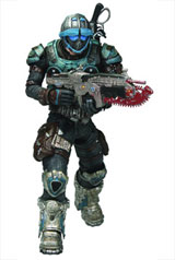 Gears of War Series 6 COG Soldier Action Figure
