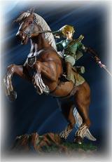 Legend of Zelda Twlight Princess Link on Epona Statue