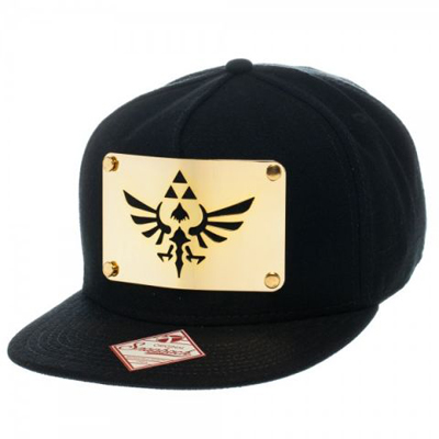 Zelda Skyward Sword Metal Triforce Black Snapback