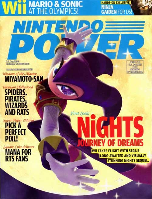 Nintendo Power Volume 216 NiGHTS: Journey of Dreams