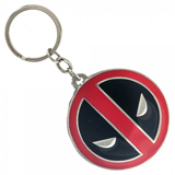 Marvel Deadpool Metal Chrome Rim Keychain