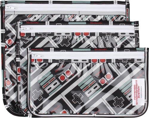 Nintendo NES Controller Print Travel Bag 3 Pack