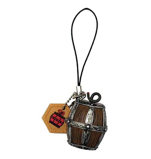 Monster Hunter Item Large Barrel Bomb PVC Keychain