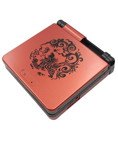 Game Boy Advance SP Housing Shell Replacement Service Dragon Red & Black