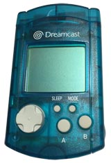 Dreamcast VMU Memory Card Aqua Blue by Sega
