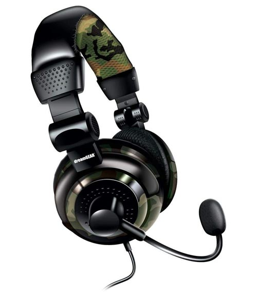Universal Elite Wired Gaming Headset Camo dreamGEAR