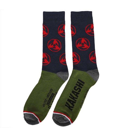 Naruto Shippuden Colorblock Icons Crew Socks 5 Pack