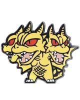 Godzilla Chibi King Ghidorah 1/2 Inch Series 2 Enamel Pin