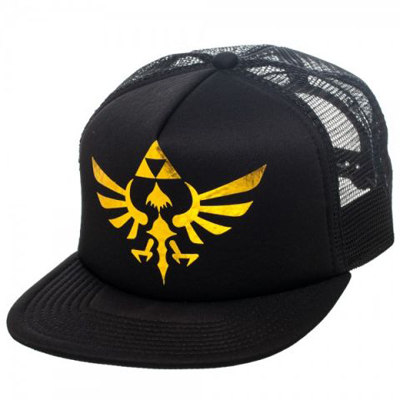 Zelda Skyward Sword Triforce Black Trucker Cap