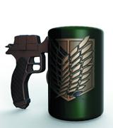 Attack on Titan 3D Maneuvering Gear Handle Molded Mug