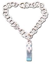 Sword Art Online Teleport Crystal Charm Bracelet