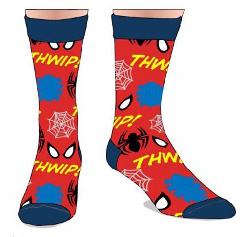 Marvel Spiderman All Over Print Crew Socks