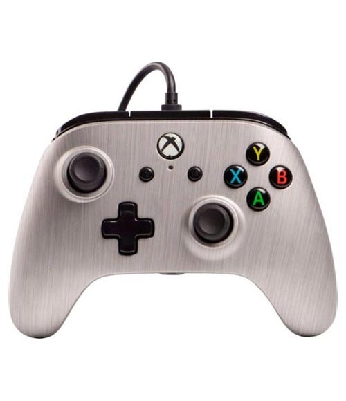 Xbox One Enhanced Wired Controller: Brushed Aluminum