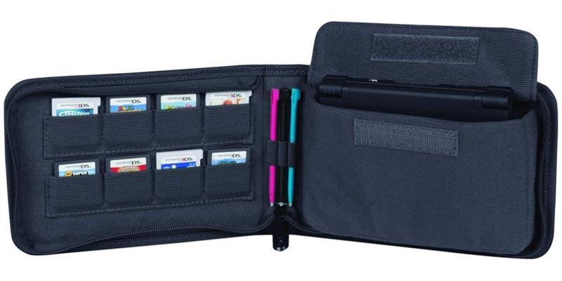 Nintendo 3DS Universal Folio Case Black open