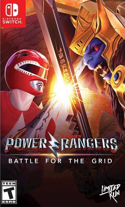 Nitnendo Switch Power Rangers Battle for the Grid alternate cover