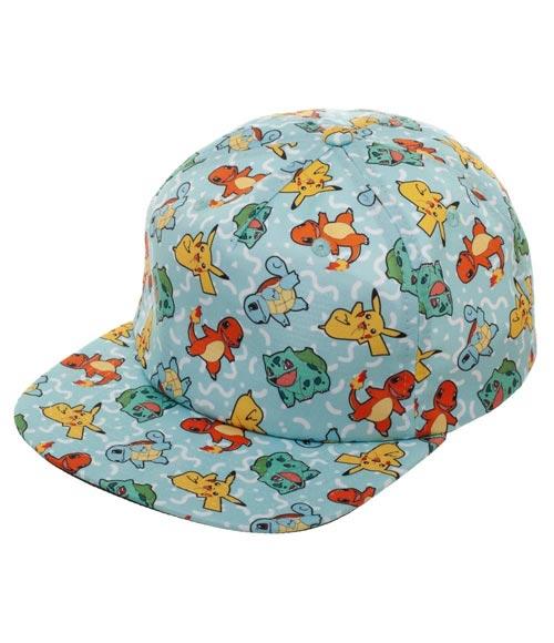 Pokemon Gen 1 Starters All Over Print Sublimated Snapback Hat