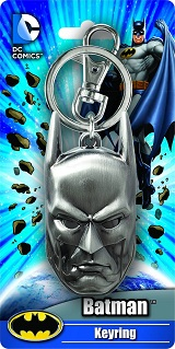 DC Comics Batman Head Pewter Keychain