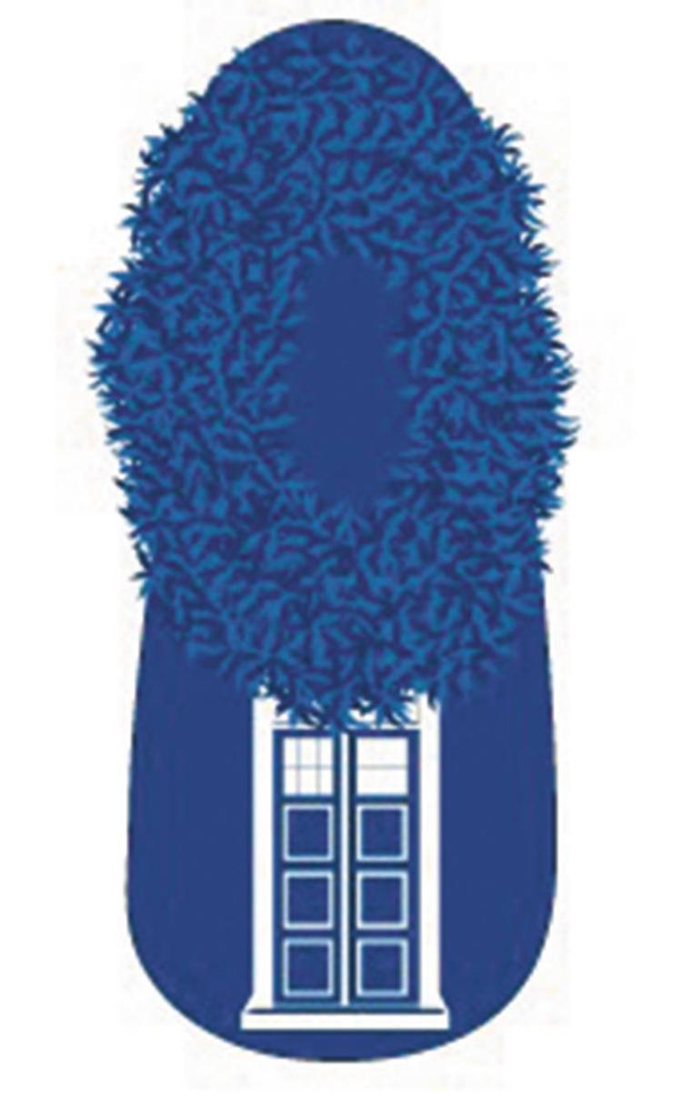Doctor Who Tardis Slip On Slipper Sock