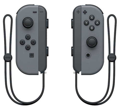 Nintendo Switch Left and Right Gray Joy-Con Controllers