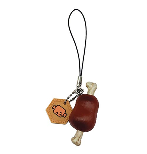 Monster Hunter Item Well-Done Steak PVC Keychain