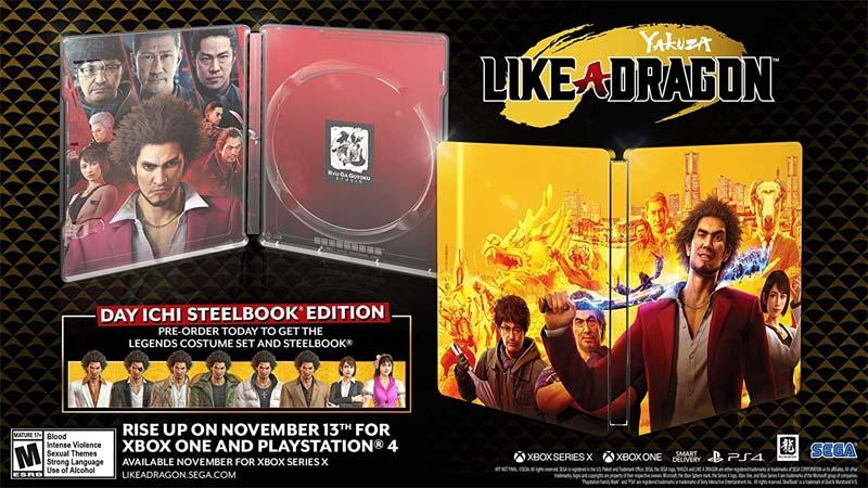 PS4 Yakuza Like A Dragon Day Ichi Steelbook Edition
