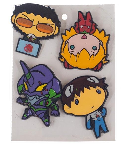 Neon Genesis Evangelion Chibi Characters Lapel Pin Set