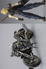 Final Fantasy VII: Play Arts Cloud Strife Action Figure & Hardy Daytona Box Set