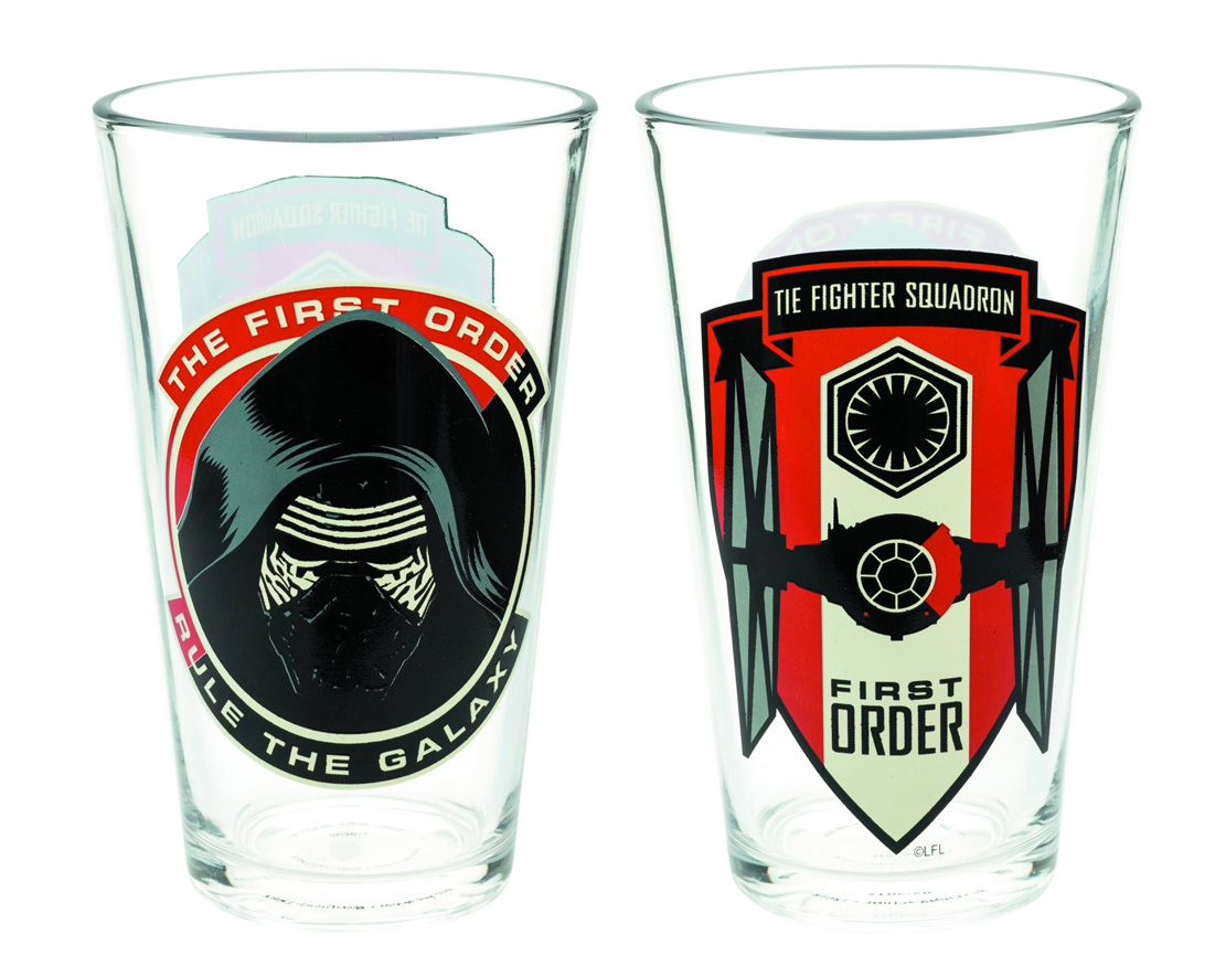 Star Wars First Order 16oz Glass Tumbler