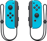 Nintendo Switch Left and Right Neon Blue Joy-Con Controllers