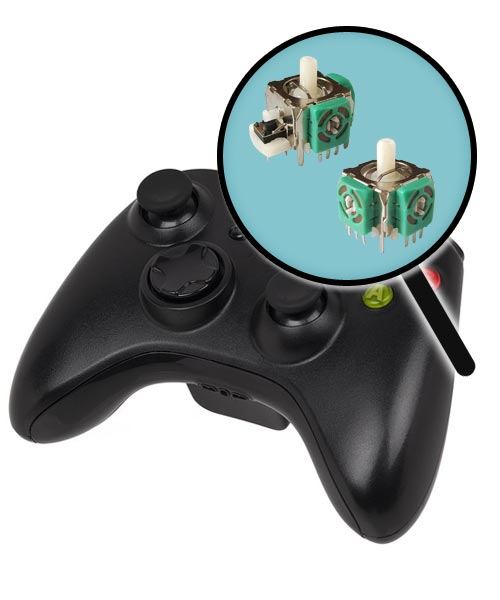Xbox 360 Repairs: Controller Analog Joysticks Replacement