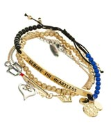 Kingdom Hearts 4 Piece Bracelet Set