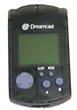 Dreamcast VMU Memory Card Clear Black by Sega