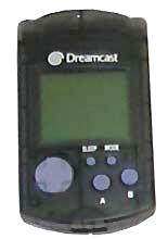 Dreamcast VMU Memory Card Clear Black by Sega