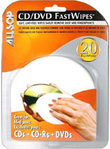 CD / DVD Fast Wipes Cleaning Cloths by Allsop