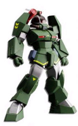 Fang of the Sun Dougram Soltic Round Facer H8 Revoltech Action Figure