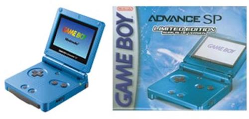 Nintendo Game Boy Advance SP Surf Blue Limited Edition